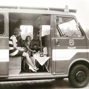 Brandweerauto als camper